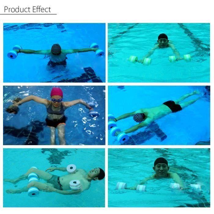 1X Sport eau piscine exercice en mousse EVA Haltère aquatique Barbell Fitness An07966