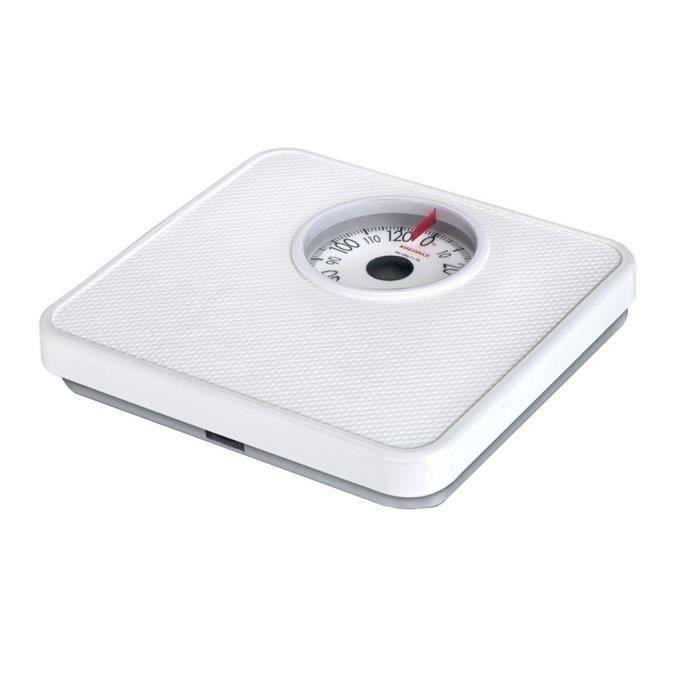 SOEHNLE Pèse-personne Mécanique Tempo - 130 kg-1kg - Blanc