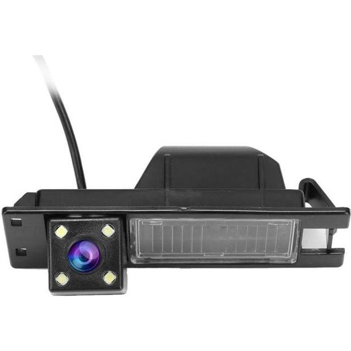 KIMISS Caméra de recul de voiture, HD 170 ° Caméra de recul sans fil avec caméra de recul avec 4LED Light Fit pour D 2006-2015