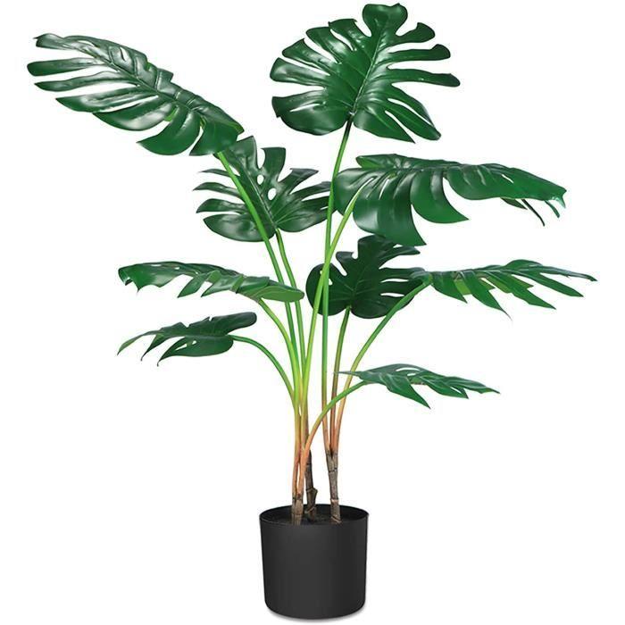 CROSOFMI Plante Artificielle Monstera Tropical ungle Hawaienne Palmier Fausse Plantes Artificielles Interieur et Exterieur S[414]