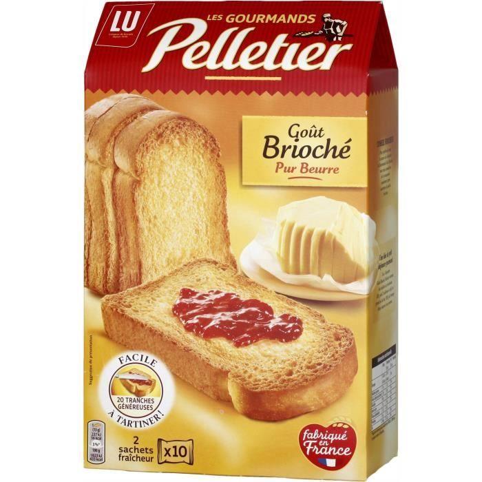Pelletier Biscotte La Gourmande Goût Brioche 260g
