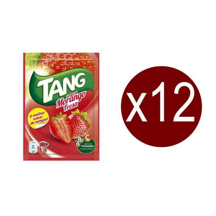 12 sachets Tang Fraise.Boisson en poudre.
