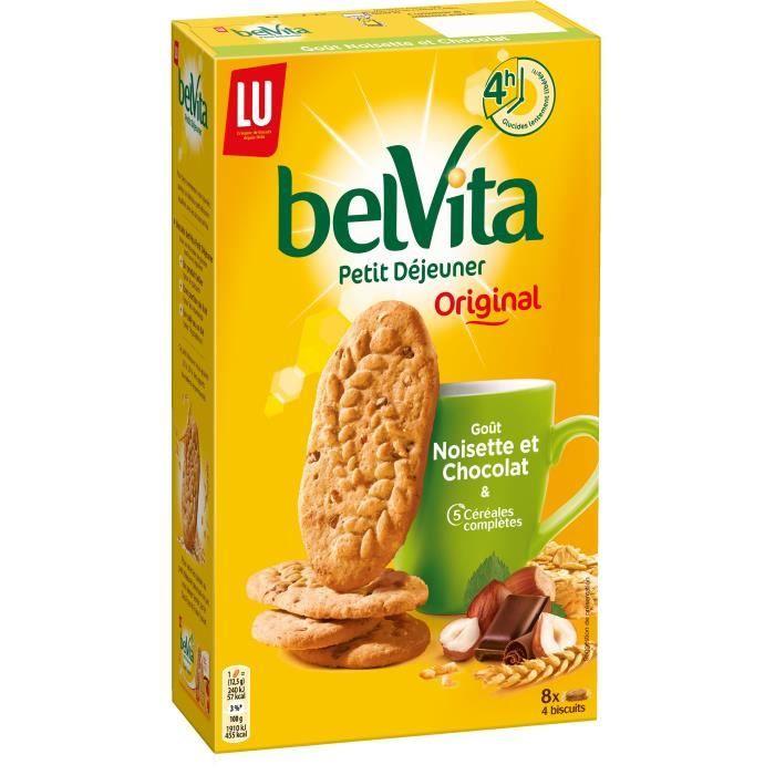 Biscuit petit déjeuner chocolat noisette 400g Belvita