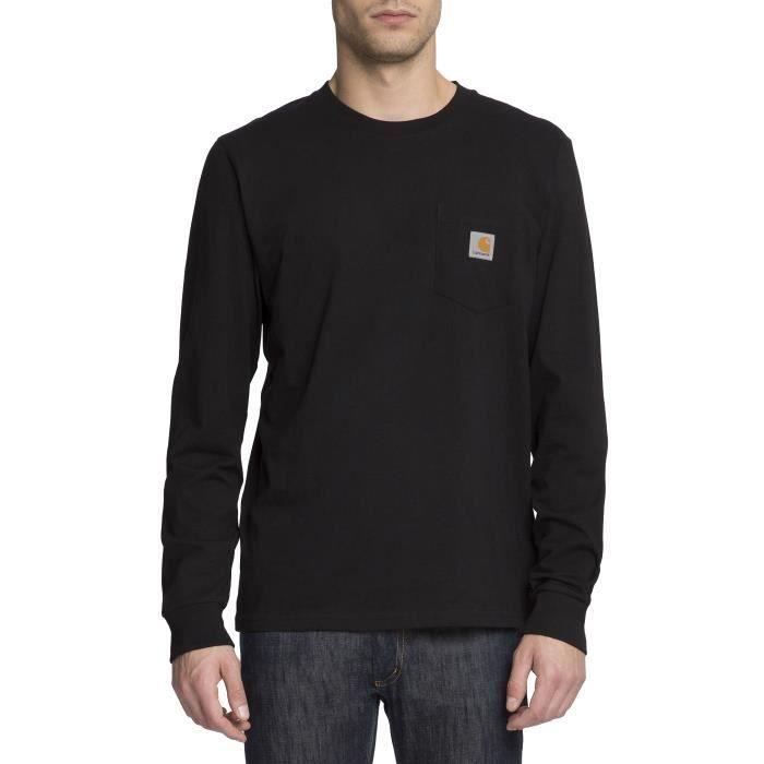 Tshirt ML Logo Poche Poitrine Noir pour homme