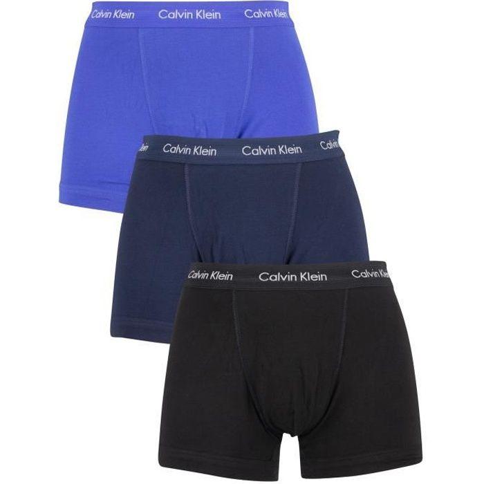 CALVIN KLEIN Pack de 3 Boxers Noir/Bleu Cobalt/Bleu Homme