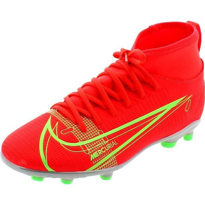NIKE JR. MERCURIAL SUPERFLY 8 CLUB MG CHAUSSURES DE FOOTBALL POUR GARCON ROUGE CV0790600