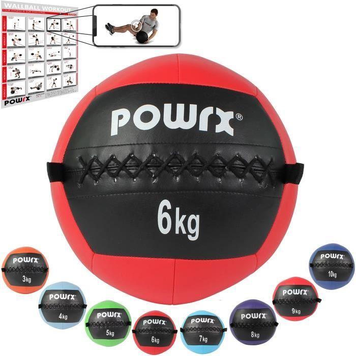 Wall Ball de 2-10 kg couleurs différentes Poids: 6 kg (rouge)