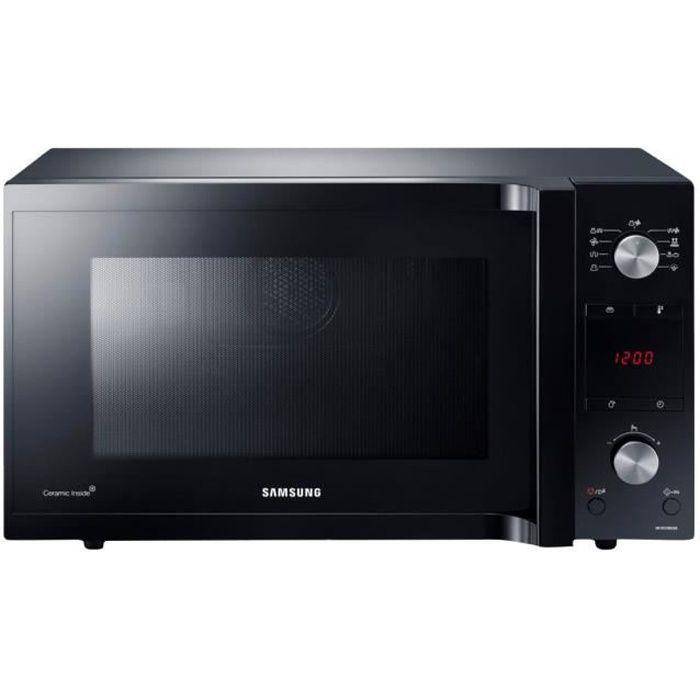 Samsung MC455TFRCBB Four micro-ondes combiné grill pose libre 45 litres 900 Watt noir