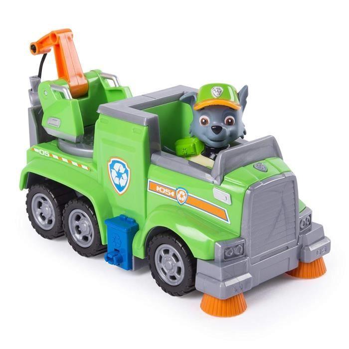 Paw Patrol Ultimate Rescue Rocky - Camion de recyclage avec figurine