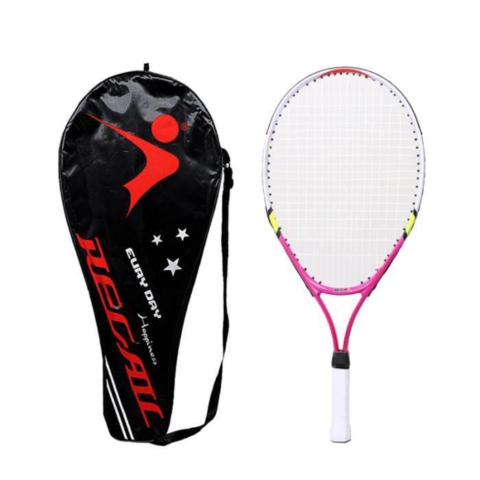 1 ensemble de raquette de tennis professionnelle colorée pratique pour les enfants jouant aux adolescents de jeux en plein air