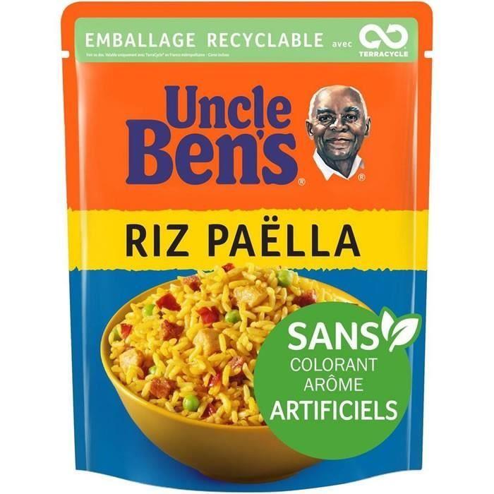 LOT DE 9 - UNCLE BEN'S : Riz Micro Ondable Paëlla 250 g