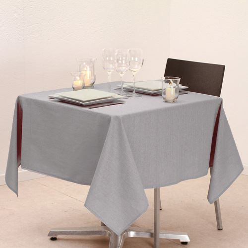 nappe paillettes 140 x 140 cm gris clair achat vente nappe de table cdiscount. Black Bedroom Furniture Sets. Home Design Ideas