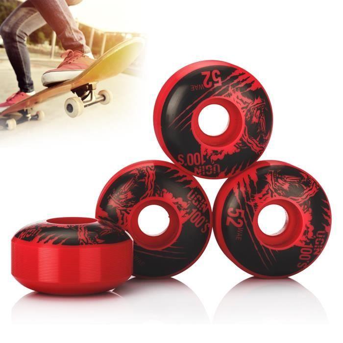1pcs 100A roues de planche à roulettes 50 x 30mm New Rose Red