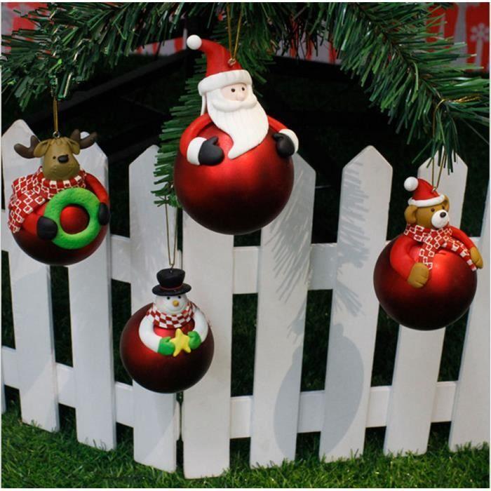 150 mm//15 cm-Choisir Couleur Arbre de Noël Décoration-Pack de 4 boules