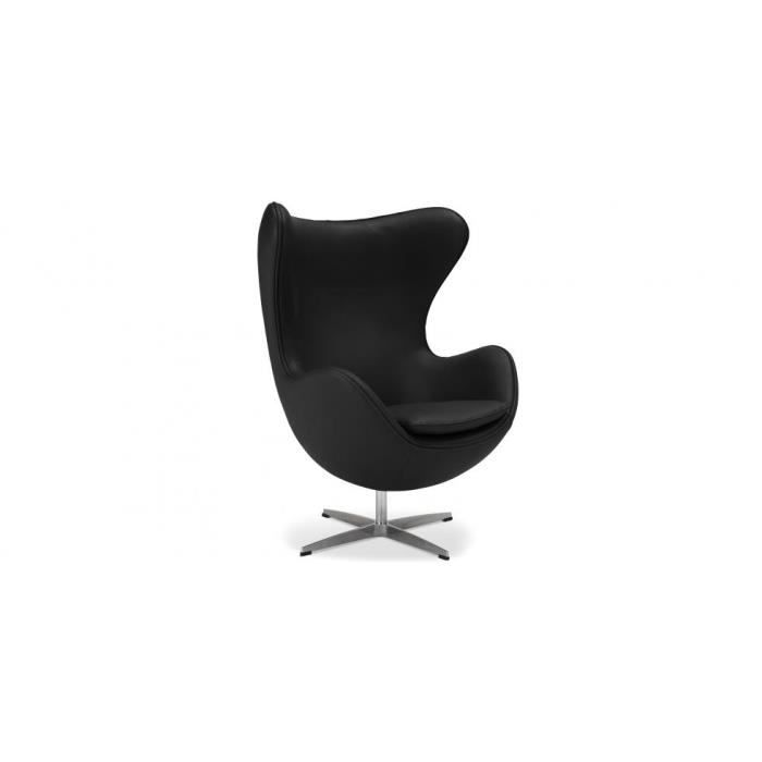 egg chair fauteuil oeuf arne jacobsen cui achat vente fauteuil bleu cdiscount. Black Bedroom Furniture Sets. Home Design Ideas