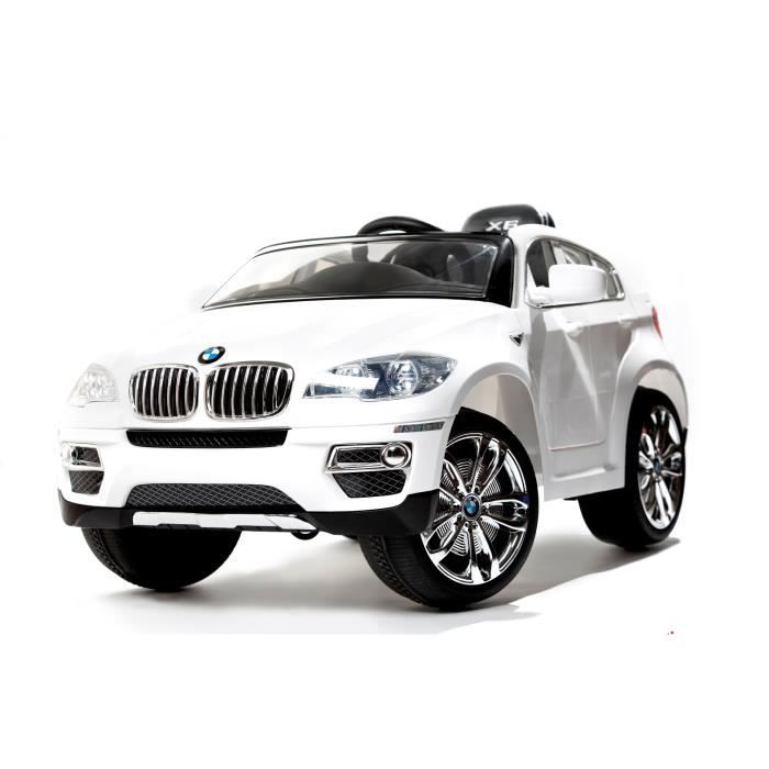 bmw x6 blanc version luxe avec t l commande 2 4gh achat vente voiture enfant cdiscount. Black Bedroom Furniture Sets. Home Design Ideas