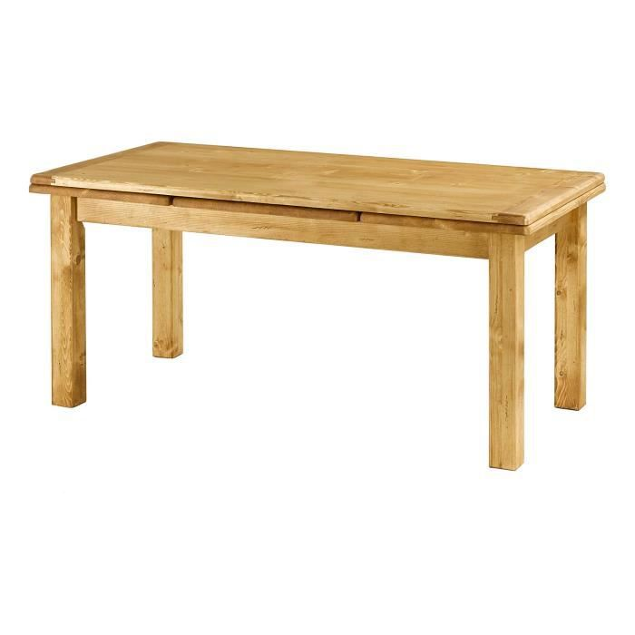 Table sapin massif 160 cm avec allonges oregon achat for Table a manger avec allonges