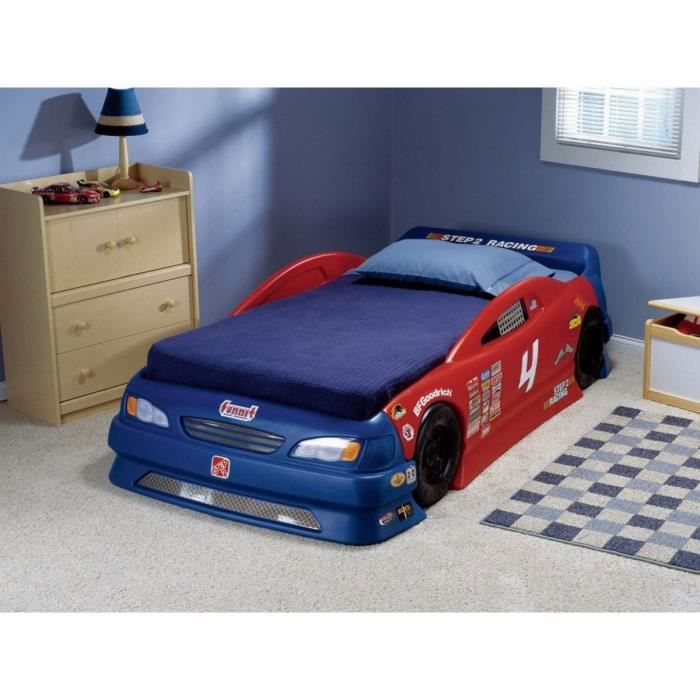 lit enfant voiture de course matelas inclus achat vente structure de lit cdiscount. Black Bedroom Furniture Sets. Home Design Ideas