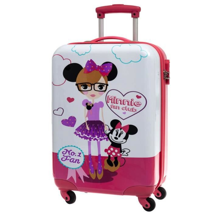 valise cabine enfants disney minnie rose multicolore achat vente valise bagage. Black Bedroom Furniture Sets. Home Design Ideas