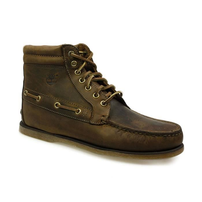 premium selection 0e291 6d627 Timberland 7 Eye Chukka Gaucho Homme Marron Cuir Ankle Botte