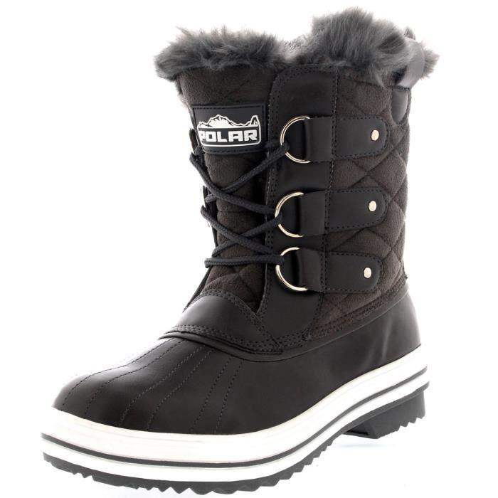 neige d'hiver 42 Taille Neige Bottes 3OU0FX matelassée imperméables chaude Femmes Botte pluie courte 8kX0wPnNO