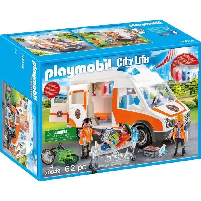 Photo de playmobil-70049-city-life-les-secouristes-ambulance