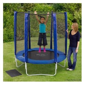 trampoline 180 bleu avec filet plum achat vente trampoline cdiscount. Black Bedroom Furniture Sets. Home Design Ideas