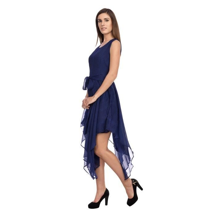 Womens Navy Blue A Line Dress W1NG9 Taille-40