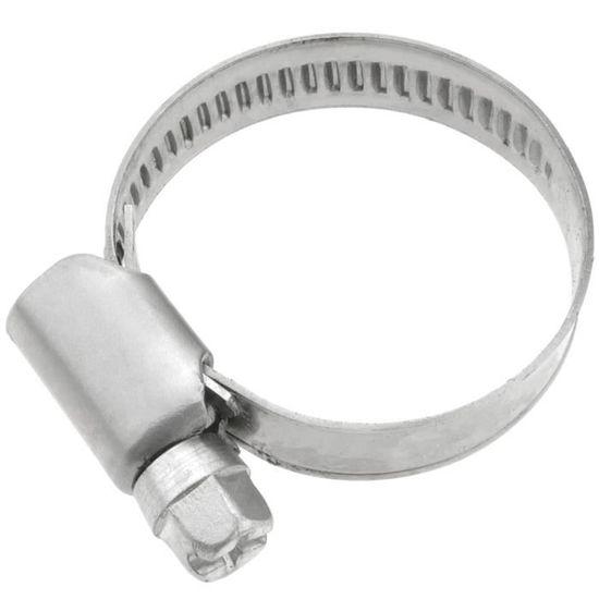 Lot de 2 colliers de serrage r/églables en acier inoxydable /Ø 12-22 mm