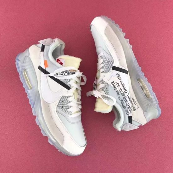 Homme OFF WHITE x Nike Air Max 90 OW Blanc