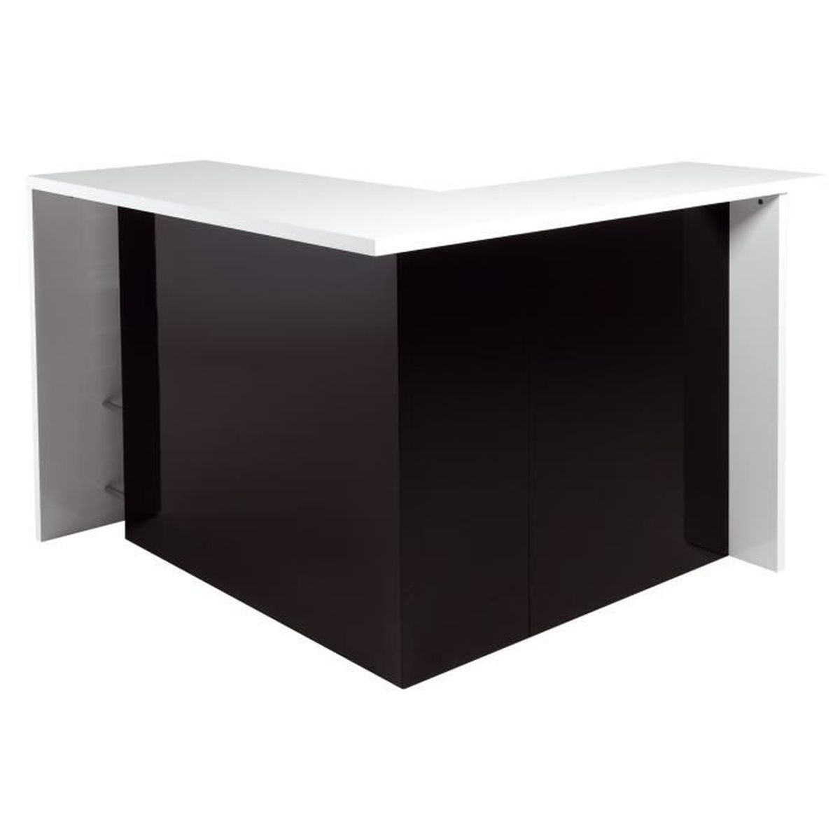 basil bar en angle moderne noir et blanc achat vente. Black Bedroom Furniture Sets. Home Design Ideas