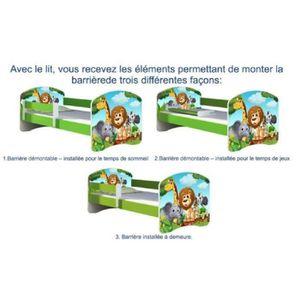 LIT COMPLET LIT ENFANT 160x80 MATELAS  TRACTOPELLE