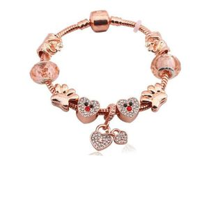BRACELET - GOURMETTE 19 cm Bracelet Style Pandora Charm Coeur Disney Ar