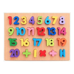 PUZZLE Puzzle enfants en bois numéros et lettres puzzles