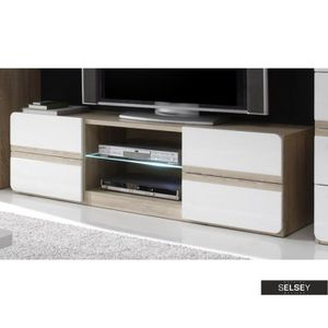 meuble tv en 120 cm achat vente meuble tv en 120 cm. Black Bedroom Furniture Sets. Home Design Ideas
