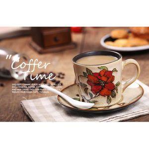 BOL Rétro tasse en céramique tasse de café peinte à la