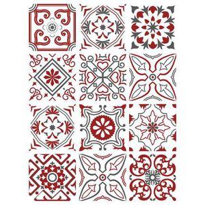 STICKERS Planche de 12 stickers Carreaux de Ciment - Biskni