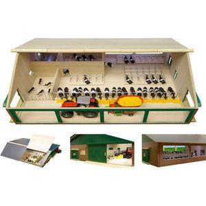 VOITURE À CONSTRUIRE étable en bois avec cornadis et salle de traite L…