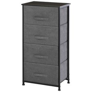 CHIFFONNIER - SEMAINIER Meuble de rangement 4 tiroirs chiffonnier dim. 45L