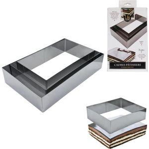 MOULE  3 cadres pâtissiers rectangles