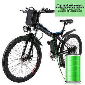 VÉLO ASSISTANCE ÉLEC Vélo électrique montagne pliable 26'' -batterie Li