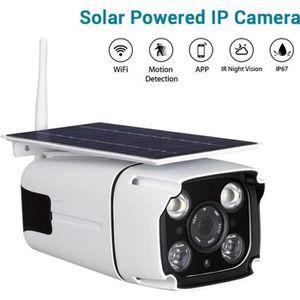 CAMÉRA IP 1080P Wifi Camera De Surveillance Solaire Détectio