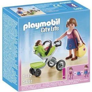 UNIVERS MINIATURE PLAYMOBIL 5491 Maman et Bébé avec Poussette