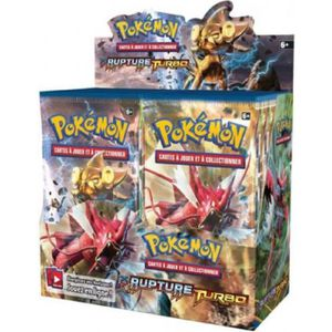 CARTE A COLLECTIONNER Présentoir de 36 Boosters Pokémon Rupture Turbo