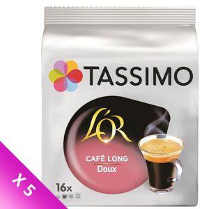 CAFÉ Tassimo L'Or Long Doux Café en Dosettes x16 - 89,6