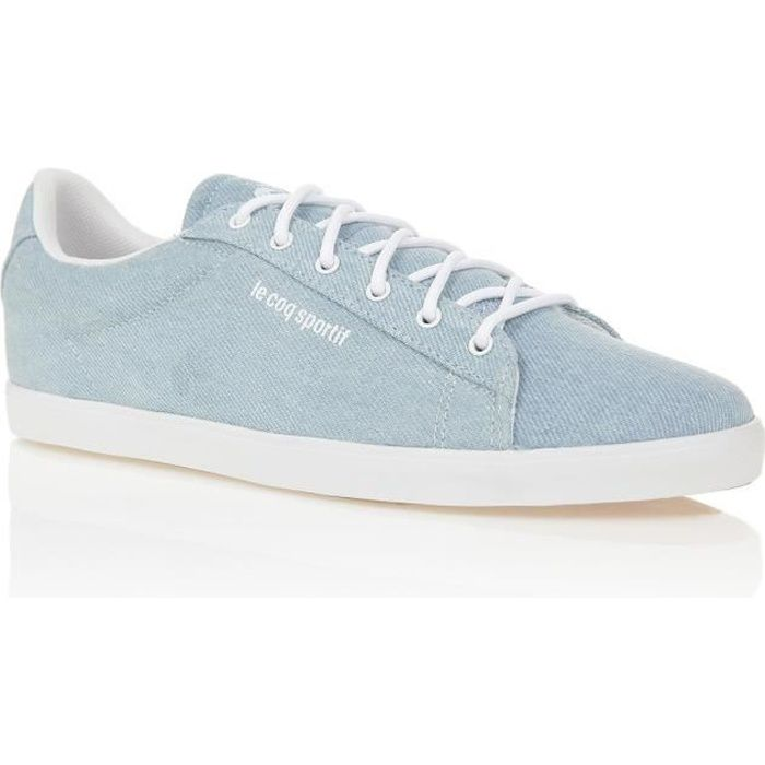 LE COQ SPORTIF Baskets AGATE DENIM - Femme - Bleu/Blanc
