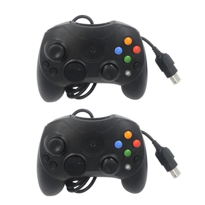Manette de jeu noire de remplacement Microsoft pour Xbox Original S-Type filaire