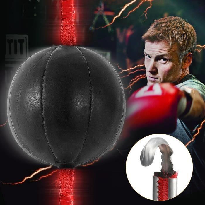 Sac de frappe,Cuir PU MMA boxe vitesse balle & Muay Thai boxe pivote sac de frappe boxe entraînement Speedball équipement de boxe
