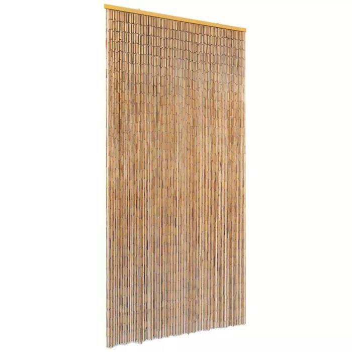 Rideau de Porte en Bambou Contre Insectes 90*220 cm