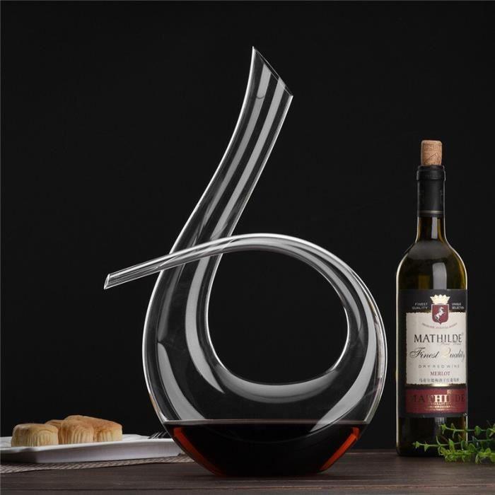 Carafe à vin rouge en cristal fait à la main, ensemble de verres à décanter pour le Brandy, carafe, Bar, bouteille d'*DE5405